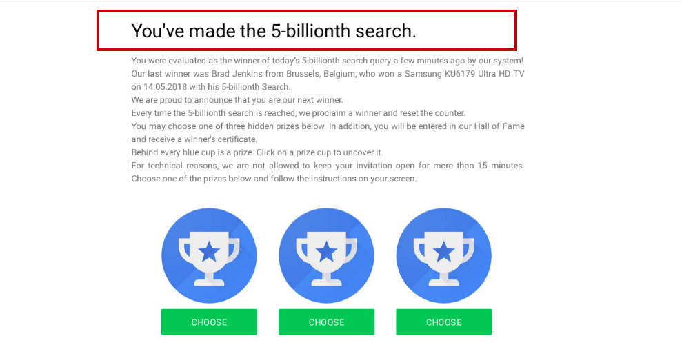 5 Billionth Search