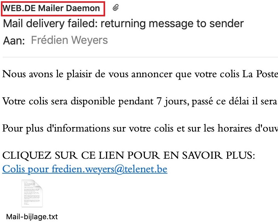 WEB.DE Mailer Daemon