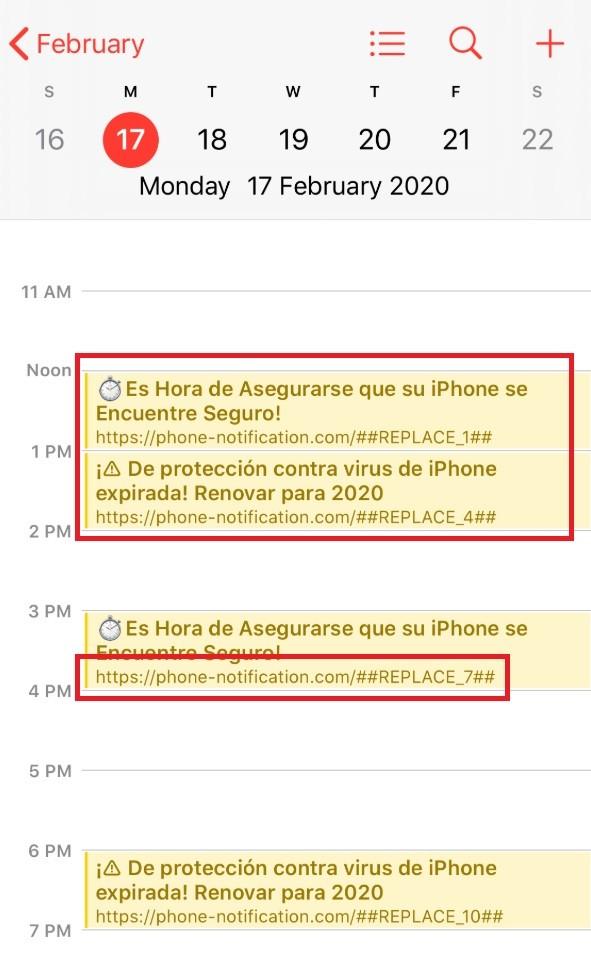 Iphone-notification.com Calendar Virus