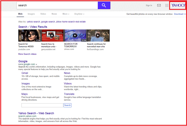 Yahoo Search Mac