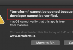 Cannot be opened because the developer cannot be verified