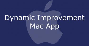 Dynamic Improvement Mac