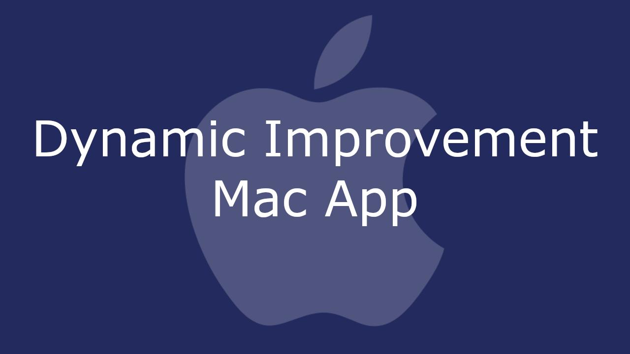 Dynamic Improvement