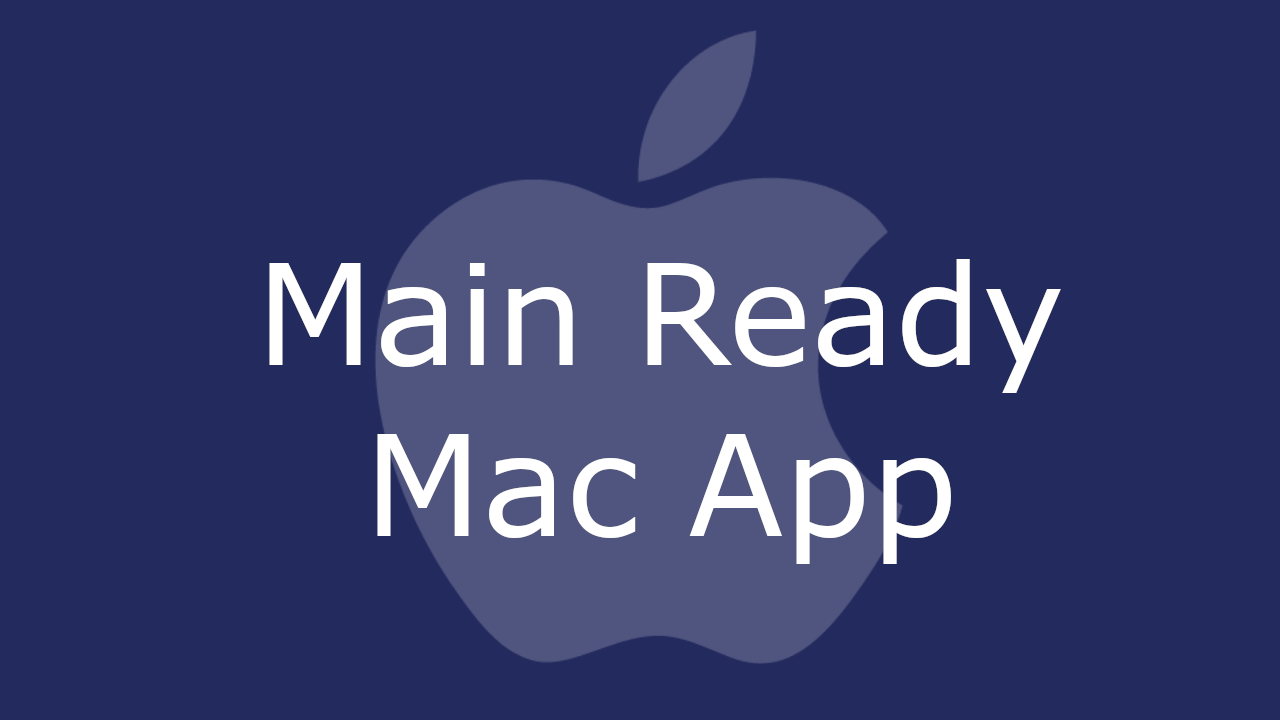 Main Ready Mac