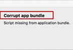 Corrupt app bundle