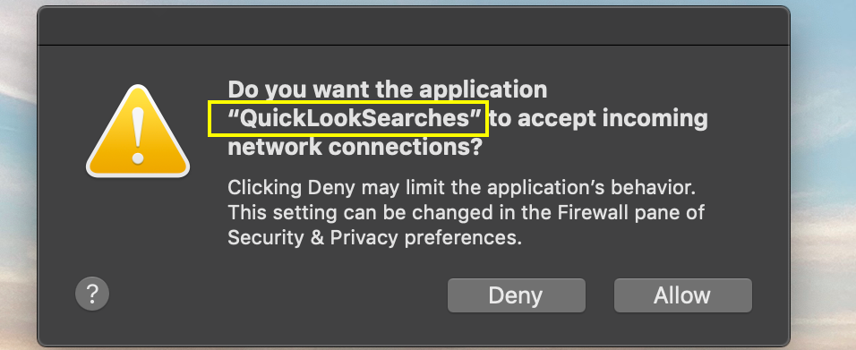 QuickLookSearches