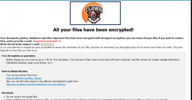 Clown Ransomware