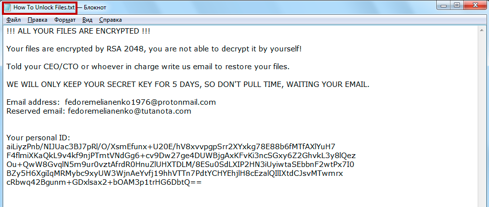 ColdLock Ransomware