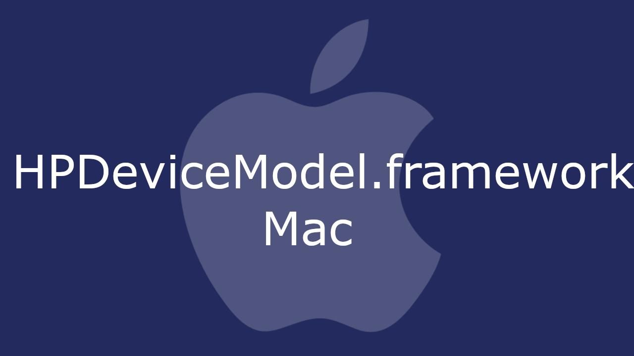 HPDeviceModel.framework
