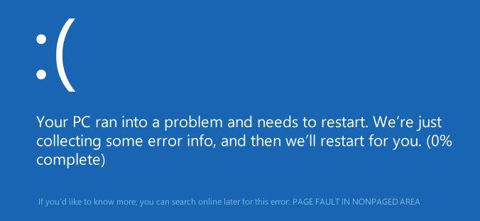 """""""PAGE FAULT IN NONPAGED AREA"""" Windows"""