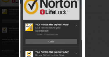 Chrome Notification Virus