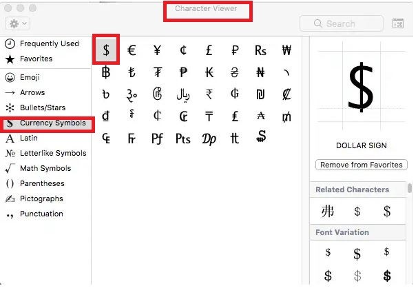 Quick ways to type currency symbols and characters on your Mac