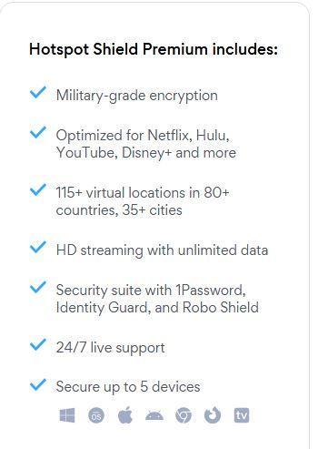 Hotspot Shield Premium Package