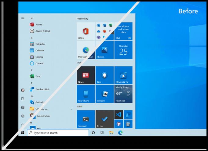 New Windows 10 Start Menu beta