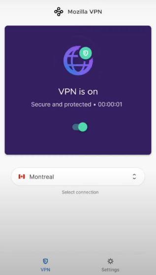 Mozilla Vpn Mobile Interface