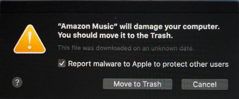 Amazon Music malware