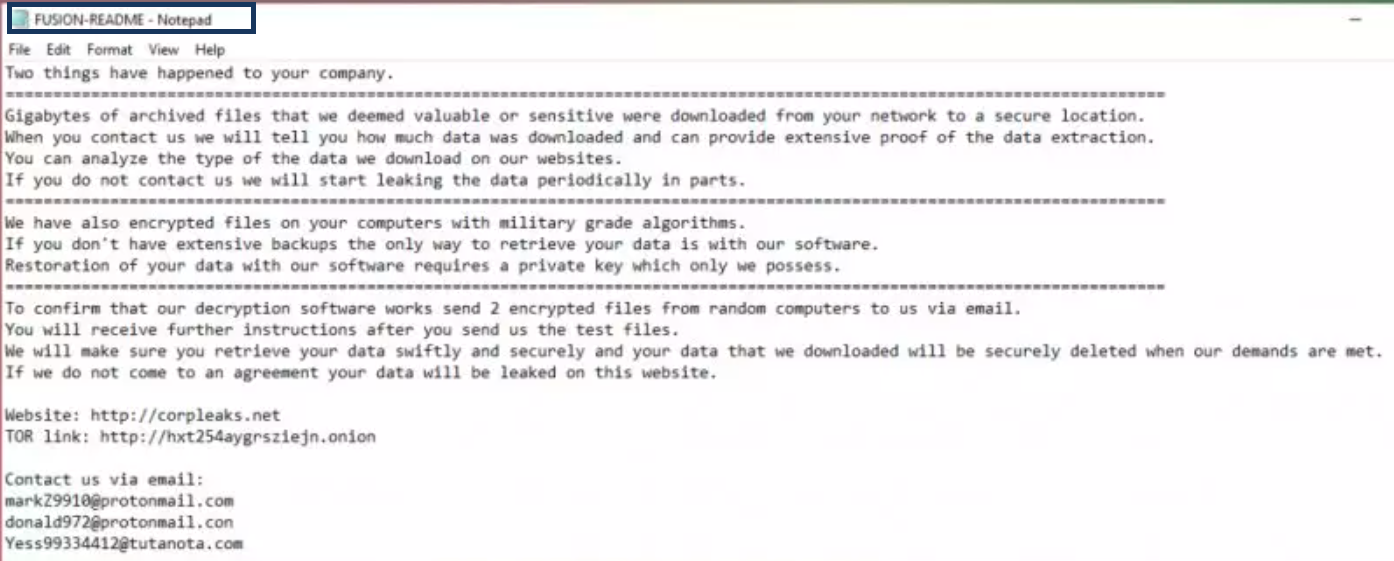 .FUSION ransomware