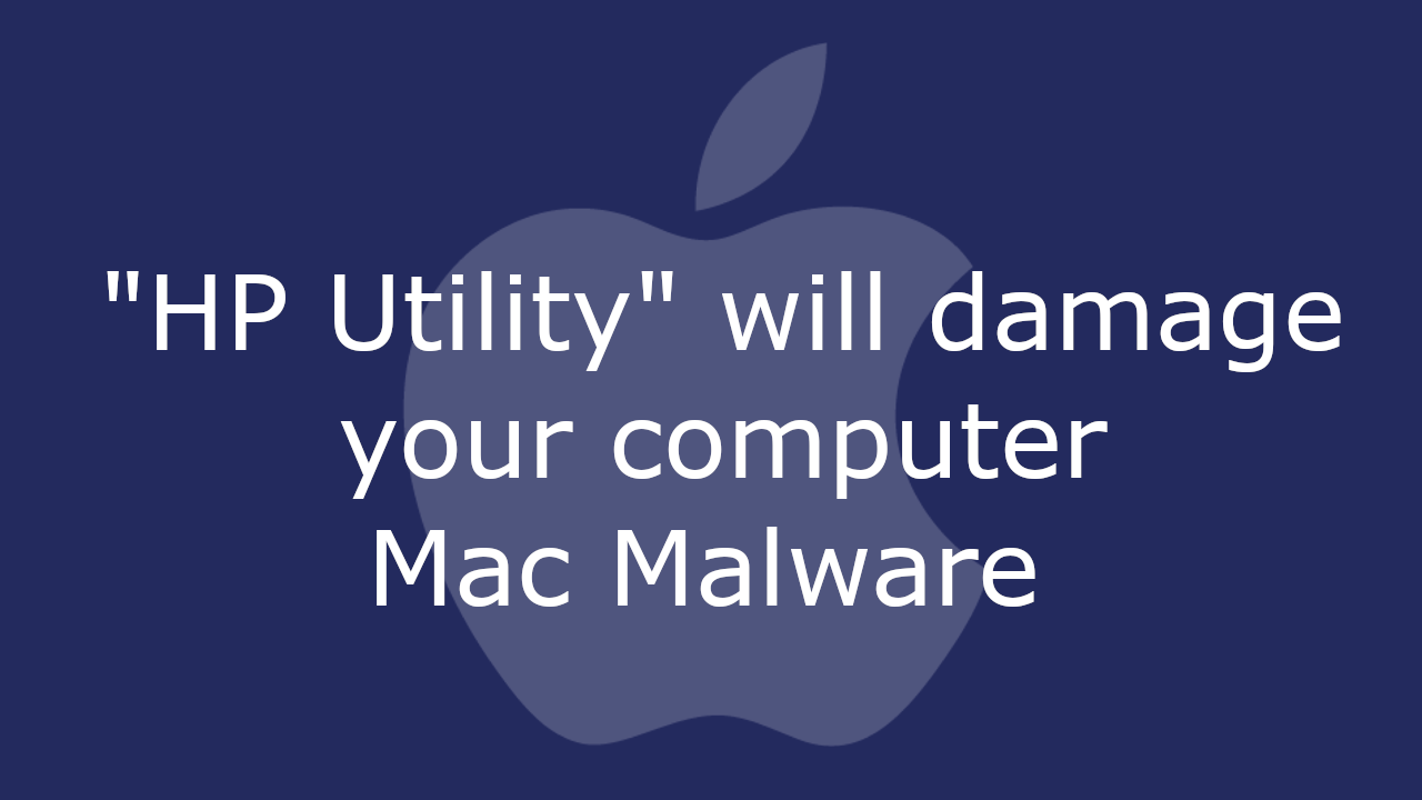 HP Utility