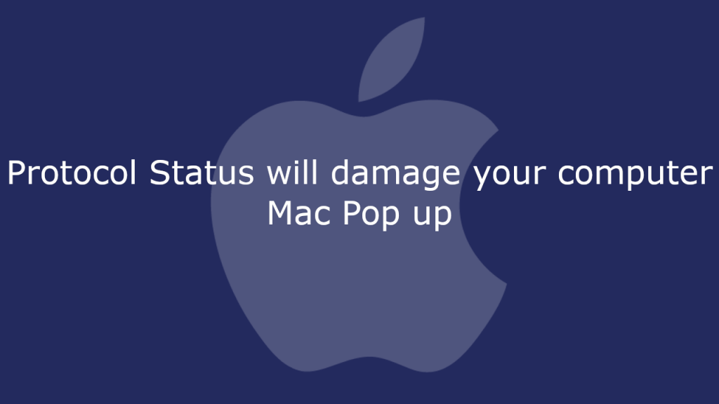 Protocol Status will damage your computer