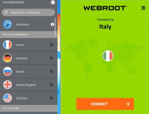 Webroot WiFi Security VPN Review