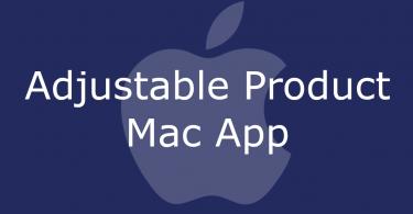Adjustable Product Mac