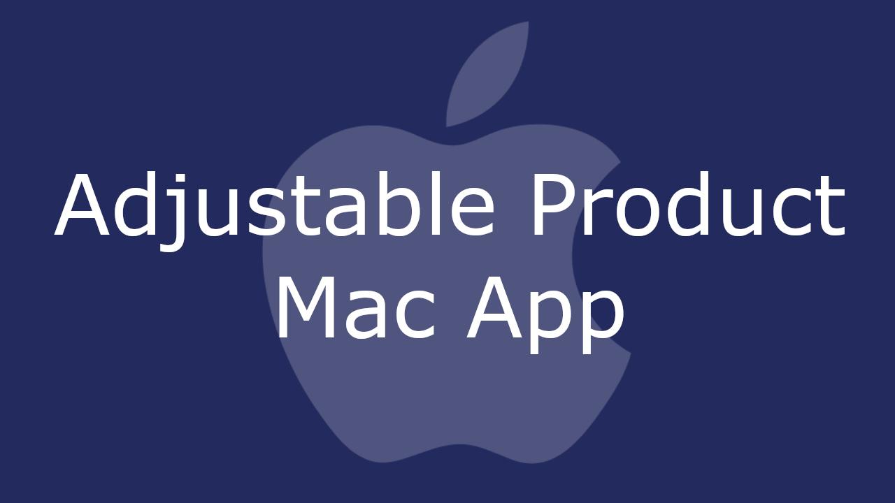Adjustable Product