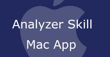 Analyzer Skill Mac