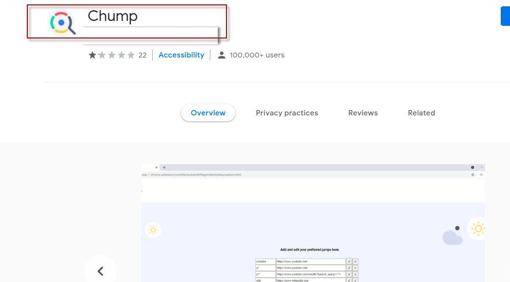Chump Adware