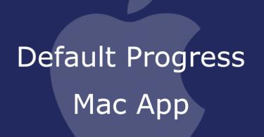 Default Progress Mac