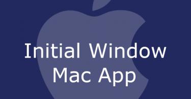 Initial Window Mac
