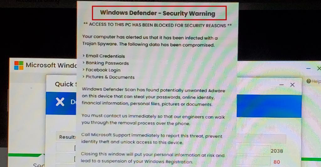 Windows Defender Security Warning
