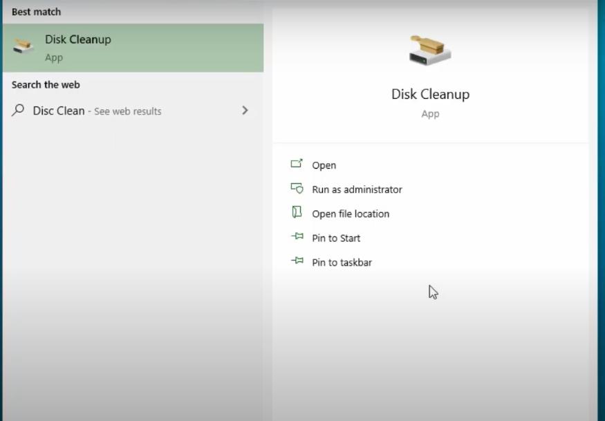 Disk Cleanup App