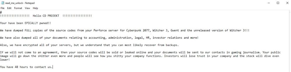 Cyberpunk Ransomware