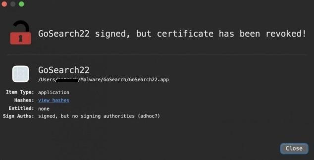 GoSearch22 malware