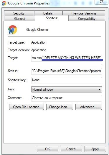 Chrome Properties2