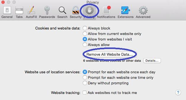 Remove Website Data Mac Safari