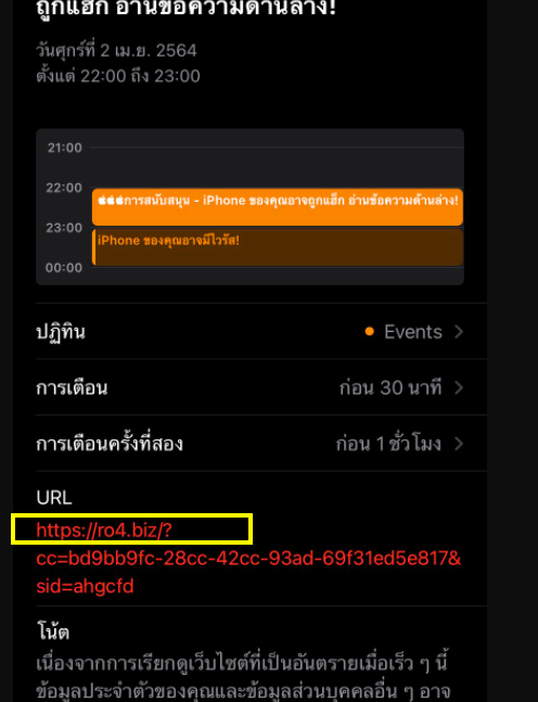 The Ro4.biz virus on iPhone