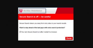 WebAdvisor by McAfee virus