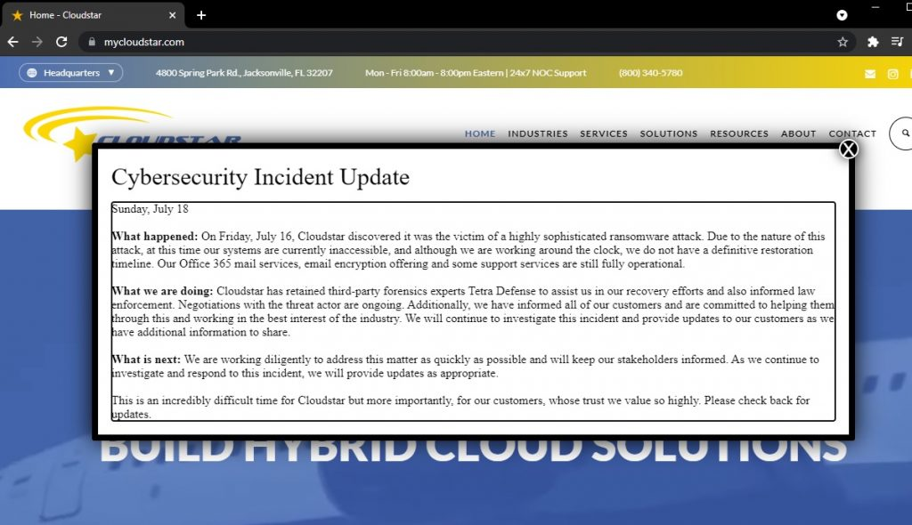 Cloudstar Ransomware 1024x590